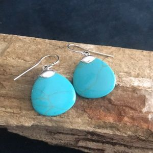 Jewelry - Sterling Silver and Turquoise Colored Earrings